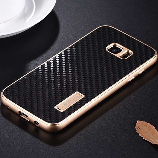 best service e5d36 056ae US $21.79 36% OFF|Fashion Metal Case For Samsung Galaxy S7 / S7 Edge Cover  Luxury Real Carbon Fiber Phone Cases For Samsung Galaxy S7 Edge Fundas-in  ...