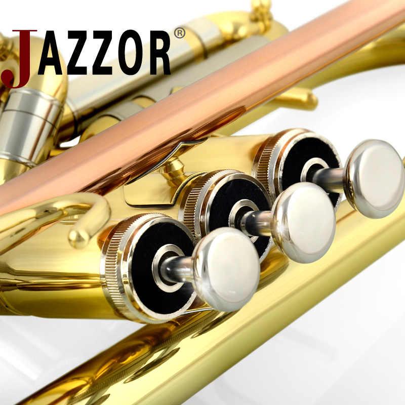 Jazzor JBTR-601 المهنية b شقة المتقدم حالة عالية الجودة الذهب ورنيش مع المعبرة آلات هوائية