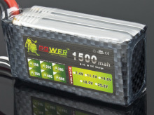 Lion Power 3S 11.1V 1500MAH 35C T/XT-60 Li-po battery