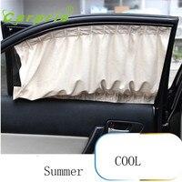 Dropship Hot Selling 2X Car Sun Shade Side Nylon Mesh Window Curtain Foldable Sunshade UV Protection