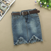 Mini Denim Skirt Women 2017 Summer Fashion High Waist Short Jeans Irregular Sexy Jean Pencil Skirts Womens Jupe Faldas F23