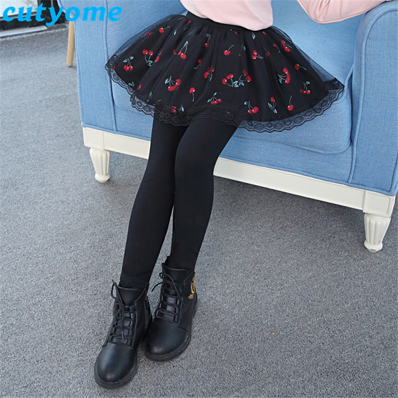 Cutyome Teenage Girls Leggings with Skirt Children Autumn Skinny Pants Solid Cotton Skirt Pants Toddler Kids Leggins 8 10 12 14 in Pants from Mother Kids