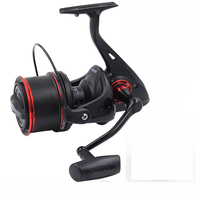 Spincasting Sea Fishing Spinning Reel 10000 Metal Spool 10+1BB Big Saltwater Catfish Fishing Reel Long Distant Wheel one spool