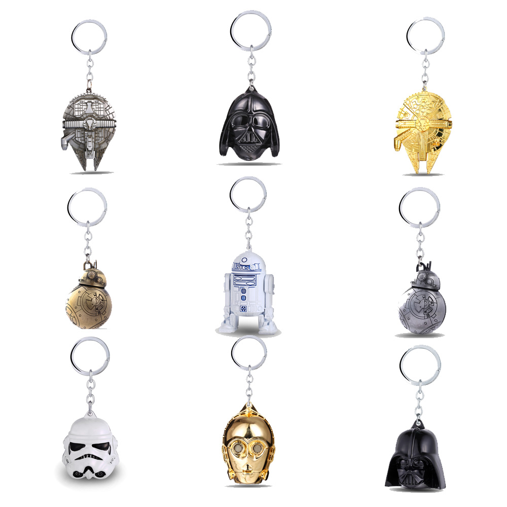 Star Wars Keychain  Falcon Destroyer StormTrooper Darth Vader Keyring Car Bag Key Chain Pendant Bottle Opener Jewelry