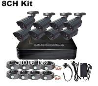 Home 8 CH H 264 CCTV SECURITY DVR SYSTEM EFFIO 700TVL CCD CCTV 3 6MM IR