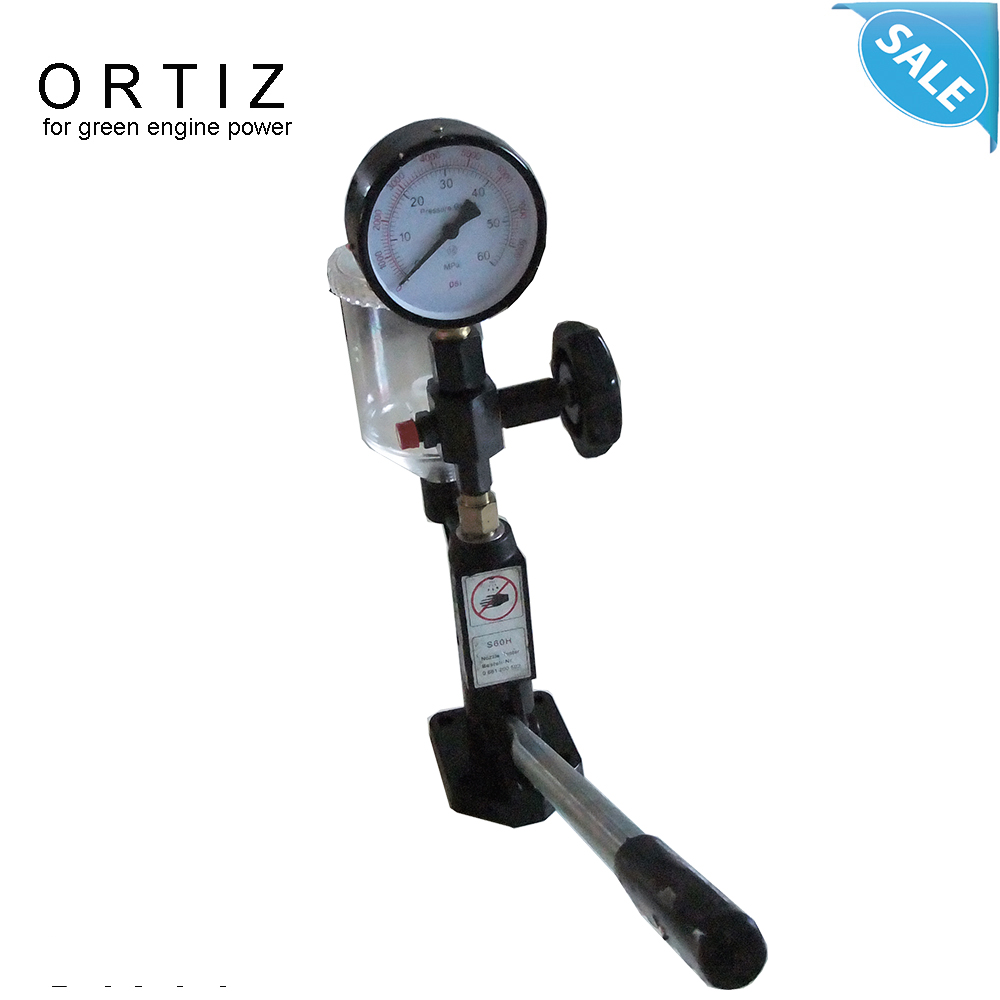 ORTIZ inyector nozzle tester,S60H Common Rail injector tester original fuel injector tools for diesel injection diesel fuel system 0445110291 common rail injector assembly dlla155p1674 injection nozzle