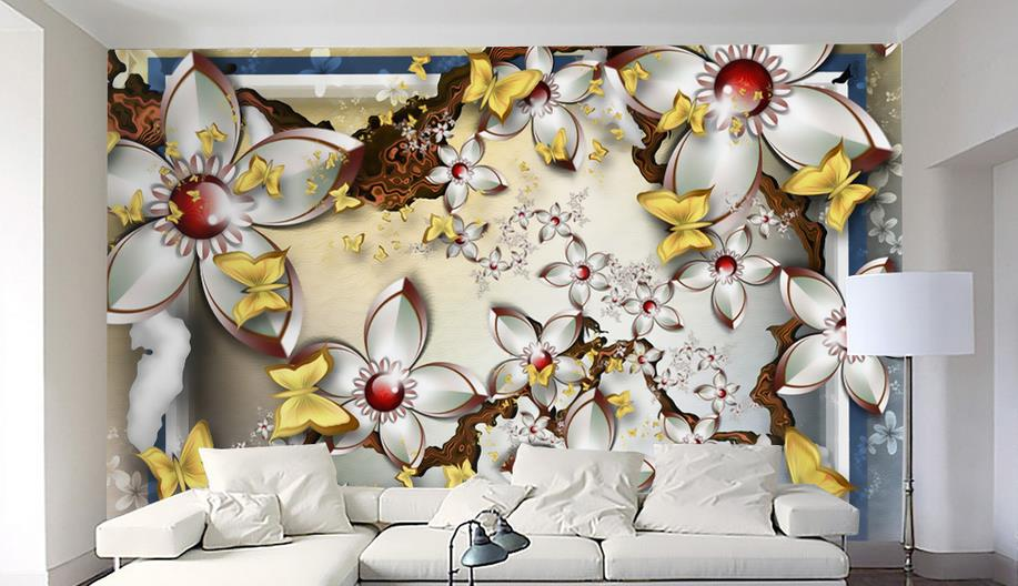 3D photo wallpaper stereoscopic relief European backdrop Beautiful flowers 3D large wall mural wallpaper Modern luxury painting custom 3d stereoscopic mural wallpaper european fashion beautiful white peony bedroom tv backdrop wall paper modern home decor