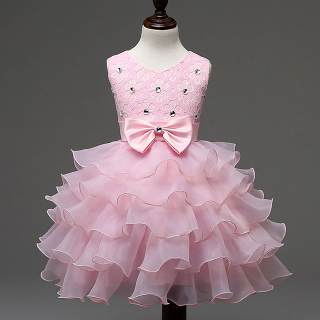 5e67d355f Children Girl Layered Tutu First Birthday Outfit Baby Girl Baptism Gowns  Crystal Princess Toddler Girls Party Dress Clothes