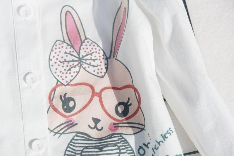a9ed55dab Blusas blancas uniformes escolares para niños pequeños dibujos animados  estudiantes camisetas de fiesta de algodón de manga larga adolescentes ...