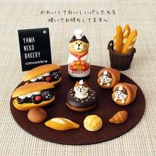 Japan genuine yama neko bakery cat kitten Sandwich French bread Pineapple bun Baguette donut chocolate cake Mousse tea candy toy
