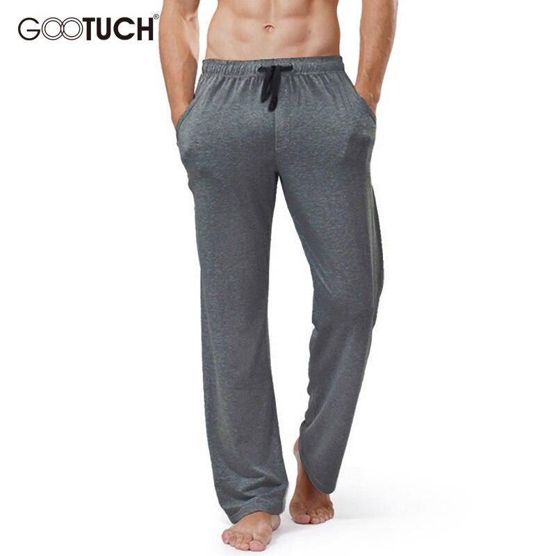 Plus Size Cotton Sleep Bottoms Home Wear Mens String Loose Pyjamas Men Sleep Wear Pants Male Solid Breathable Lounge Pants 2559