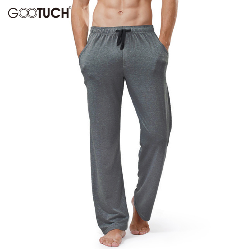 Plus Size Sleep Bottoms Home Wear Mens String Loose Cotton Pyjamas Men Sleep Wear Pants Male Solid Breathable Lounge Pants 2559