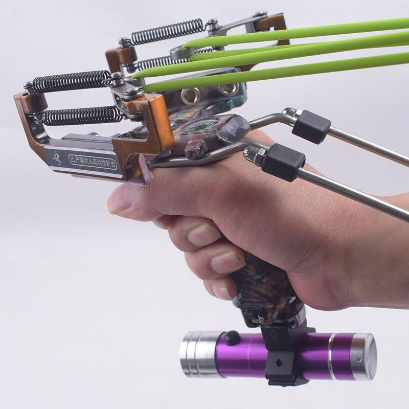 Fronde de pêche de chasse avec lance-pierre Laser puissante avec lance-pierre de poche