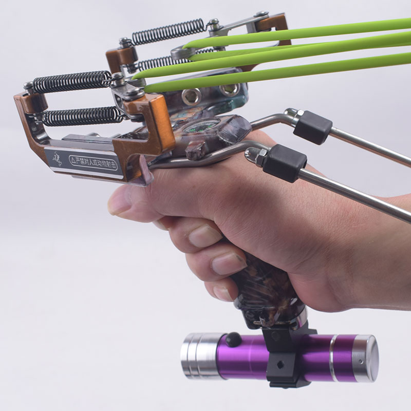 Hunting Fishing Slingshot With Powerful Laser with Flashlight slingshot Catapult Outdoor