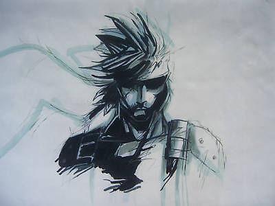 Samson Artygan Metal-Gear-Solid-Snake-originale-peinture-à-l-huile-art-TOP-art-36-polegada-art-peinture