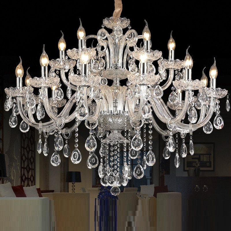 free shipping 15 arms crystal chandelier light luxury modern crystal