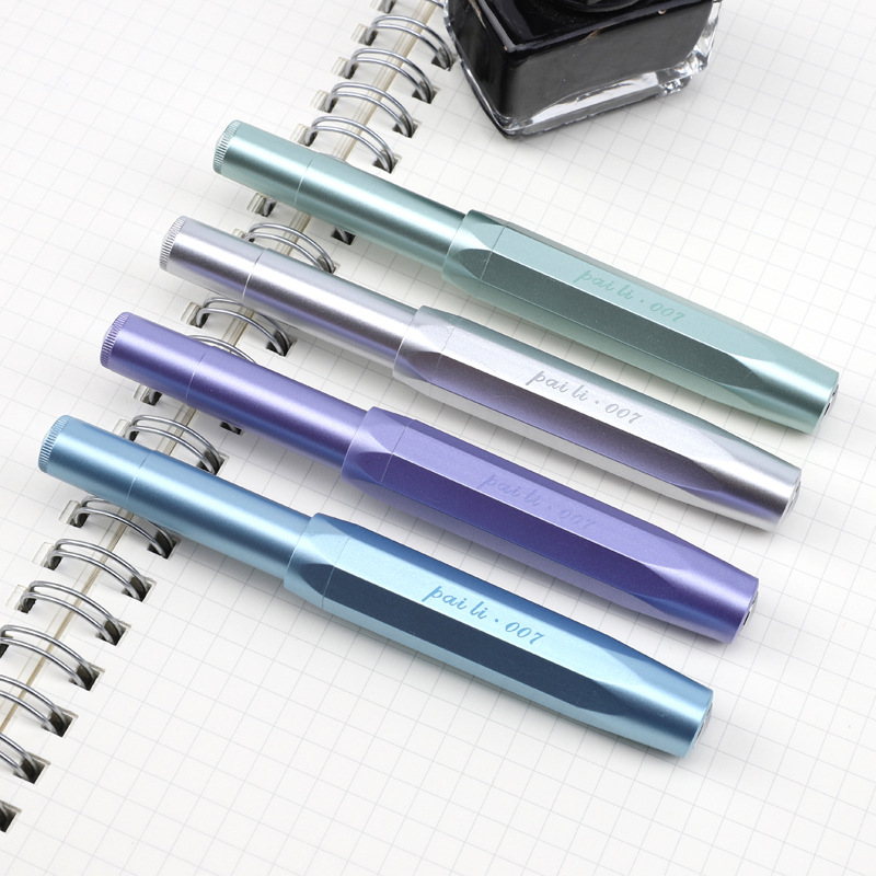Plastic Body Pocket Travel Iraurita Fountain Pen 0.38mm/0.5mm Ink Pens Simple Fashion Design Writing Signing Pen 1024