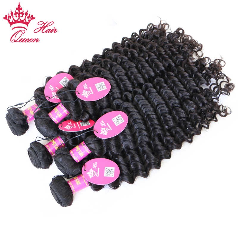 Queen Hair Products Deep Wave Virgin Brazilian Hair Bundles Deal Natural Color 10 - 28inch 100% Human Hair Weave Free Shipping