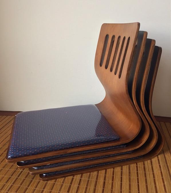 (4pcs/lot) Legless Chair Asia Style Japan Living Room Floor Seating Furniture Coffee Finish Tatami Zaisu Japanese Legless Chair