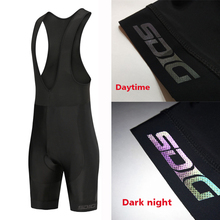 SDIG PRO TEAM profession Race Cycling bib shorts lightweight bib 9D Lycra and High-density Pad for Reflective discoloration