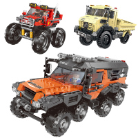 New 500+pcs Car Series All Terrain Vehicle Set Building Blocks Model Bricks Toys For Kids Educational Gifts Compatible Legoing