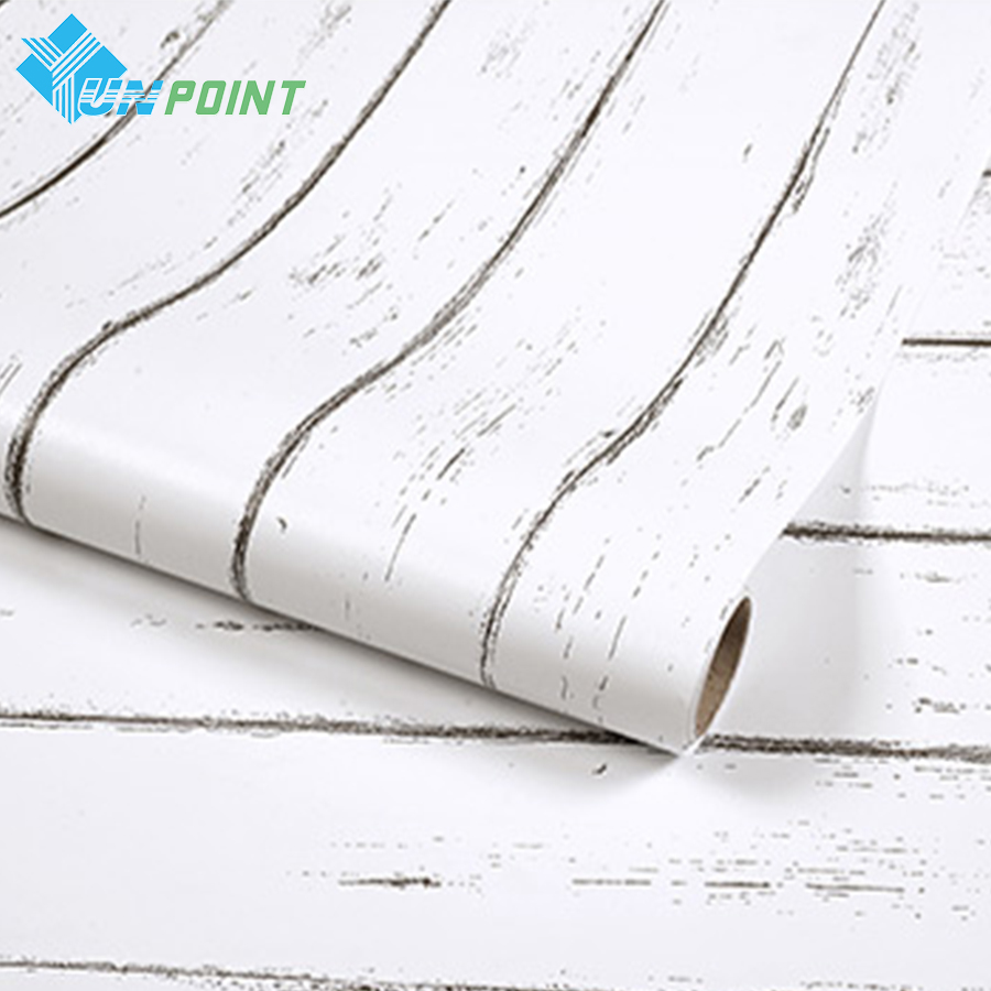 0.45x10M Waterproof Wood Wall Sticker Roll Old Furniture Diy Decorative Film Cabinet Wardrobe Door Vinyl Wall Paper Home Decor