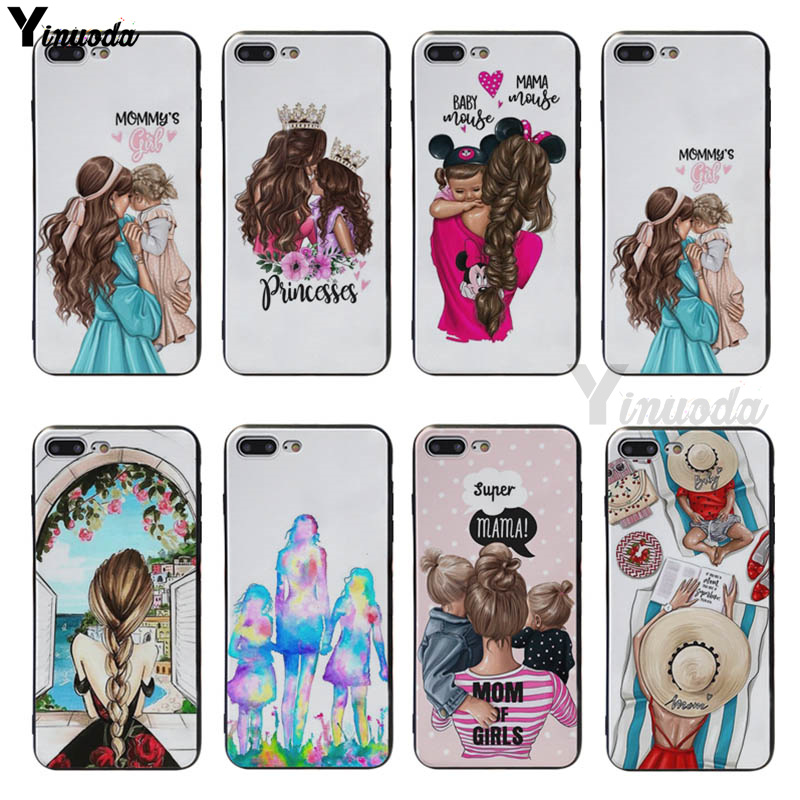 Yinuoda Mama of drama girlmom soft silicone Cover case For iphone 6 6s 6plus 6S plus 7 7plus 8 8plus 5S SE XR XS XS Max coque in Half wrapped Cases from Cellphones Telecommunications