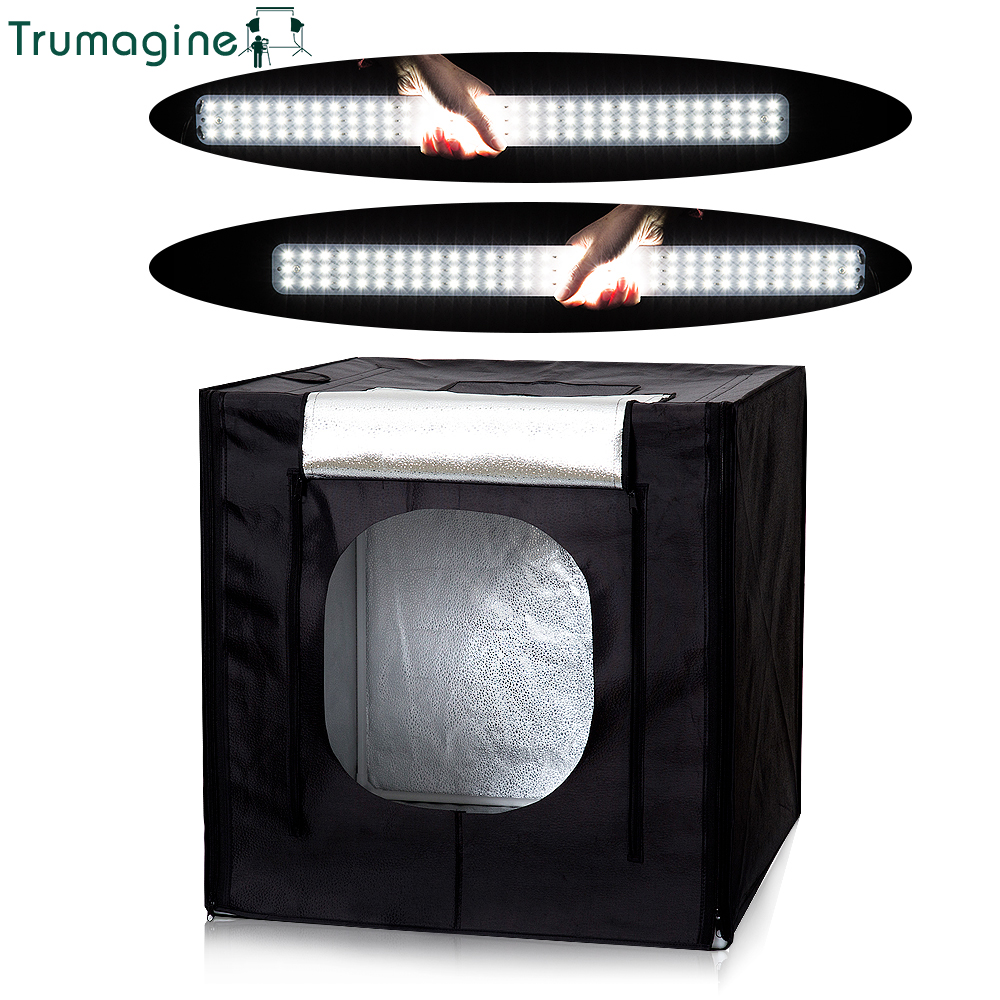 60 60 60CM LED Photo Studio Light Tent Shooting Softbox Photography Light Box Portable Bag Dimmer Switch AC adapter in Photo Studio Accessories from Consumer Electronics