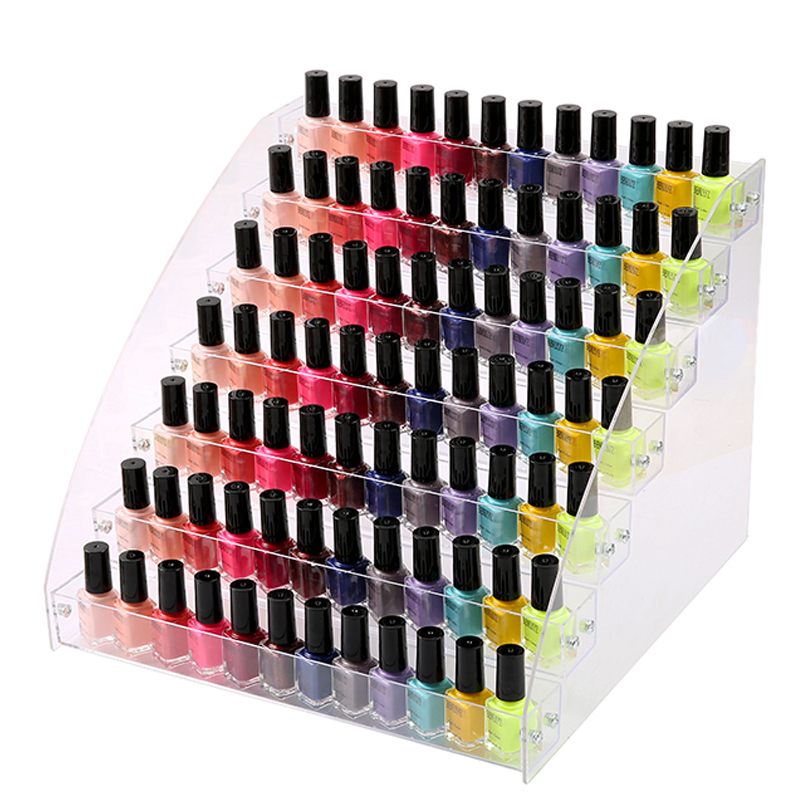 Mordoa Fashion 7 Tiers Cosmetic Makeup Nail Polish Varnish Display Stand Rack Holder Organizer Storage Box 31*31cm ahd