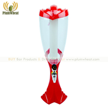 Red 3 Liters Beer Tower Dispenser with LED Light Ice Tube BT72