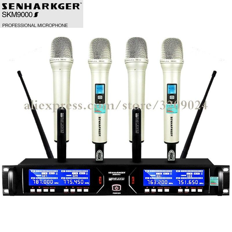 pro wireless microphone 4 handheld home singing ktv karaoke wireless mic outdoor stage. Black Bedroom Furniture Sets. Home Design Ideas