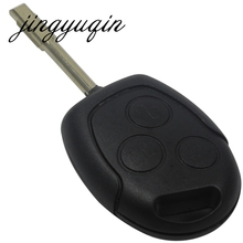 jingyuqin 3 Button Blade Uncut Remote Car Key Shell Case Fob Covers For Ford Focus Mondeo