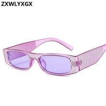 ZXWLYXGX Small square sunglasses women imitation diamond sung lasses Retro eveni