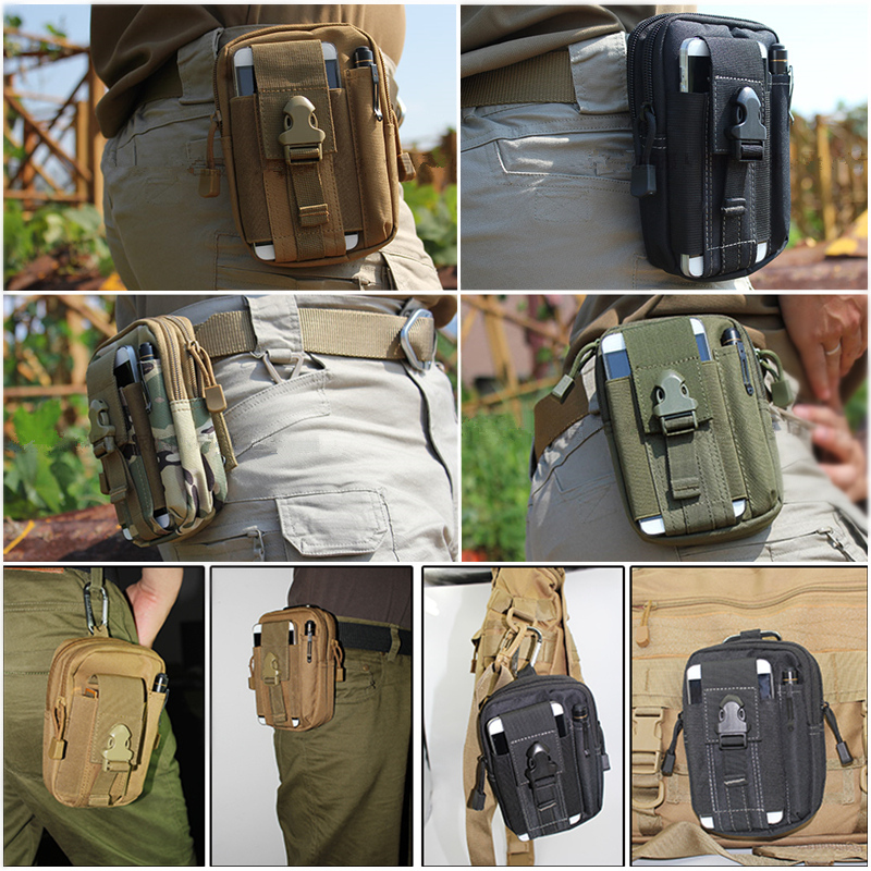 Men S Bag Edc Molle Waist Pack Hip Phone Case Casual Military Pouch In Packs From Luggage Bags On Aliexpress