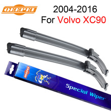 """Qeepei стеклоочистителей для Volvo XC90 2004 2005 2006 2007-2016 ПАРА 24 """"+ 22"""" силиконовая резина стеклоочиститель Авто Интимные аксессуары"""