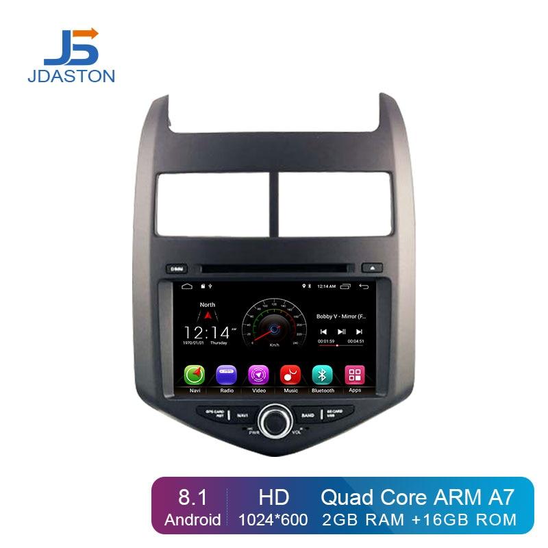 JDASTON Android 8.1 Car DVD Player For Chevrolet Aveo/Sonic 2011 2012 2013 2 Din Car Radio GPS Navigation Multimedia Stereo WIFI