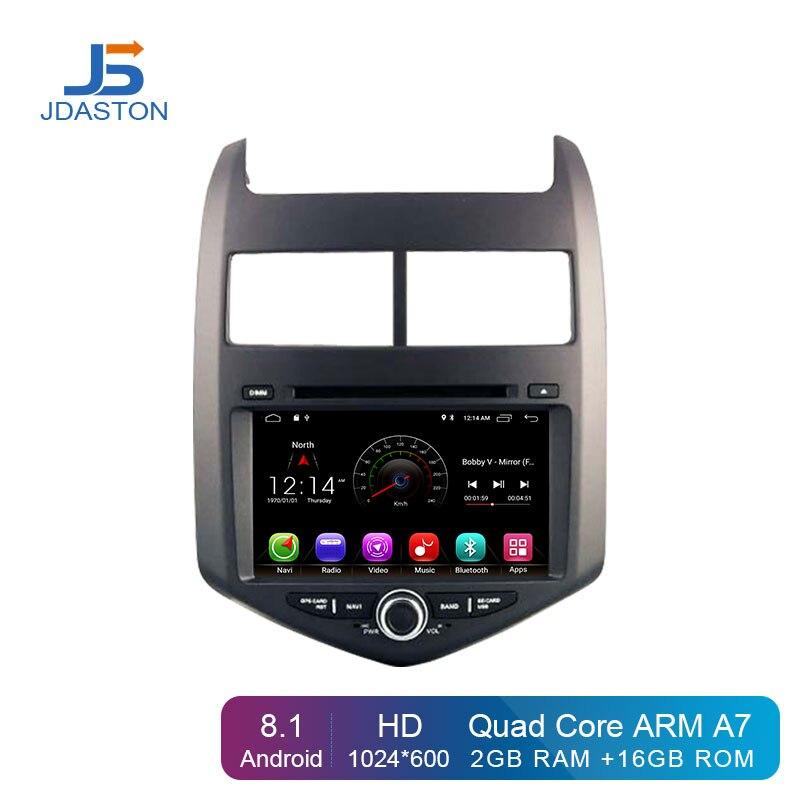 JDASTON Android 8.1 Jogador Do Carro DVD Para Chevrolet Aveo/Sonic 2011 2012 2013 2 Rádio Do Carro um Din GPS de Navegação estéreo multimídia WI-FI