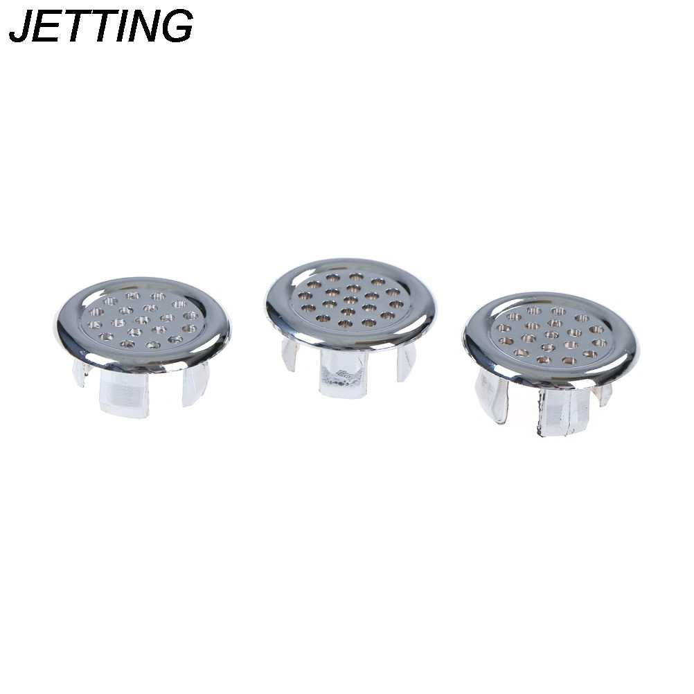 3pcs Insert Replacement Tidy Chrome Trim Bathroom Accessories Basin Sink Round Overflow Cover Ring  Overflow ring