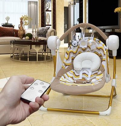 Bebé eléctrico de control remoto inalámbrico Musical gorila kid actividad producto vibrador mecedora asiento de la silla cuna columpio