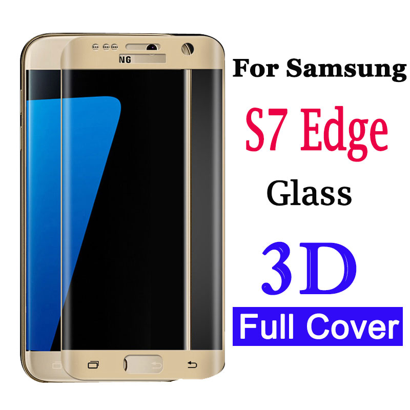3D Curved Screen Protector For <font><b>Samsung</b></font> Galaxy S7 Edge Tempered <font><b>Glass</b></font> For Galaxy S <font><b>7</b></font> 7edge Protective Glas On Glaxy S7edge Film image