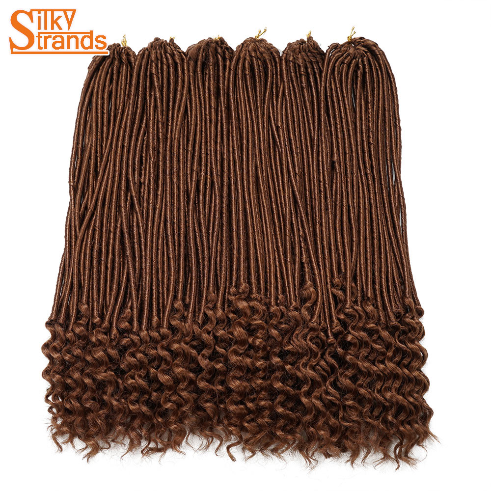 Silky Strands Soft Faux Locs Crochet Hair Kanekalon Synthetic Crotchet Braids Hair Extensions Colors Braiding Hair Bulk 20inch