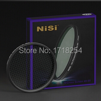 NiSi 77mm Ultra thin Multi-Coated Variable Adjustable V-Cross Screen Star Filter ( 4X 8X 4 Point 8 Point ) 77 mm цена 2017