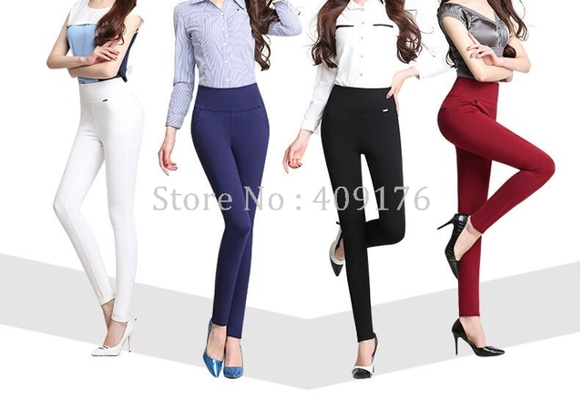 Leggings Pants 6XL Trousers Elastic Waist Pencil Pants Plus Women High Quality Thigh Trimmer Lady High Waist Daily Wear 400g 1