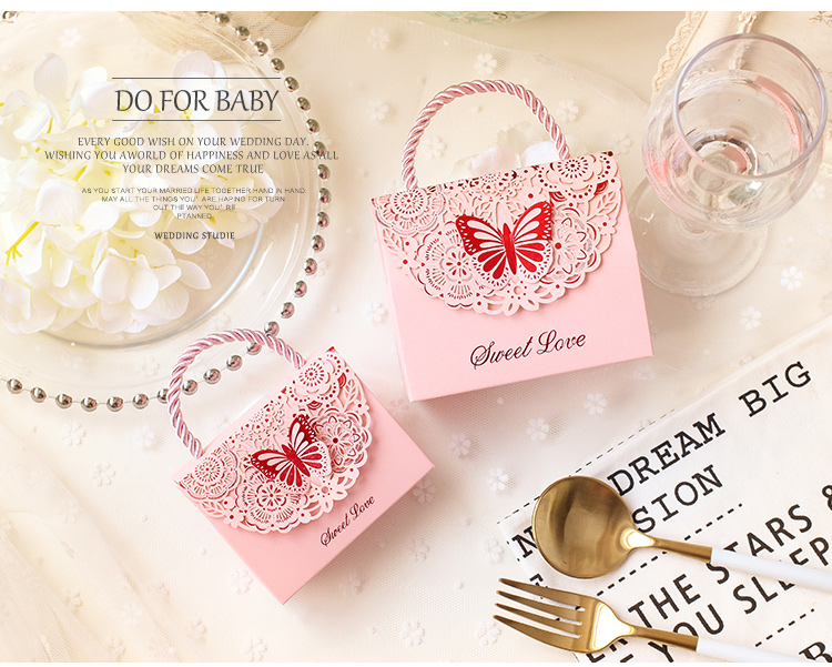 Hot sell 50pcs wedding favor baby baptism souvenir candy cake small mini packaging box