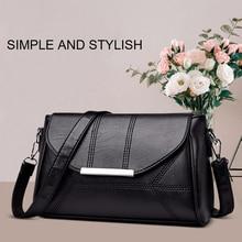 Woman Shoulder Bag PU Leather Business Envelope Female Messenger Mini Detachable Strap
