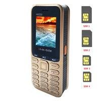Реальный 4400mAh Powerbank мобильный телефон 4 sim-карты Bluetooth MP3 fm-радио клавиатура 1,8 дюймов мобильный телефон H6000 русский язык