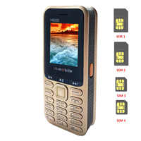 Reale 4400mAh Powerbank Cellulare 4 Sim Card Bluetooth MP3 Radio FM Tastiera 1.8 Pollici Cellulare H6000 Lingua russa