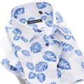 Известный Бренд С Коротким Рукавом Мужчины Цветочный Рубашка Вскользь Тонкой Мода Лето Стиль 100% Хлопок Формальный Бизнес Мужской Рубашки