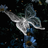 LumiParty Garden Stake Lights Solar Butterfly Pathway Lighting Color Changing Outdoor Decor Lawn Yard Path Decorative