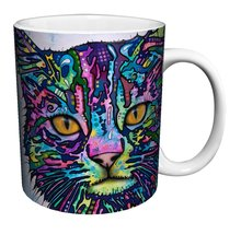 Cool Coffee Mug with Cat Art – Heat reactive